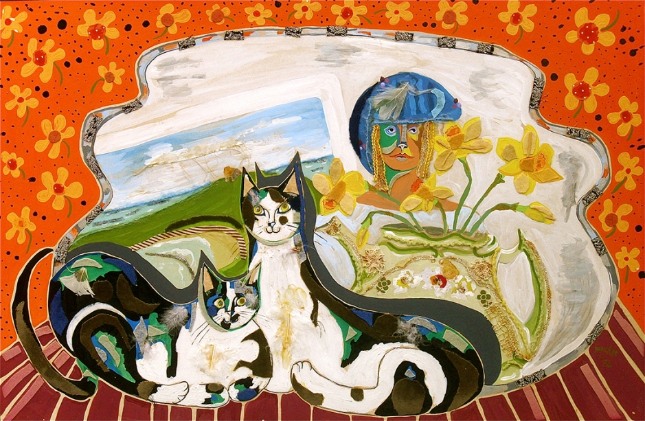 011.Self-portrait-with-two-cats